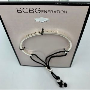 Bcbg But First Coffee Toggle Bracelet
